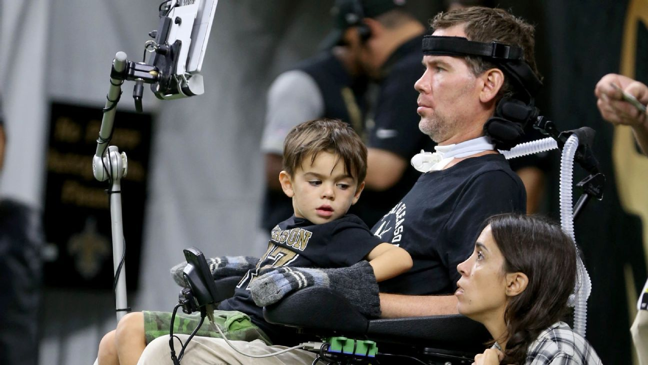 Former Saints player Steve Gleason and his wife, Michel, welcomed their second child, a daughter, on Tuesday in New Orleans.