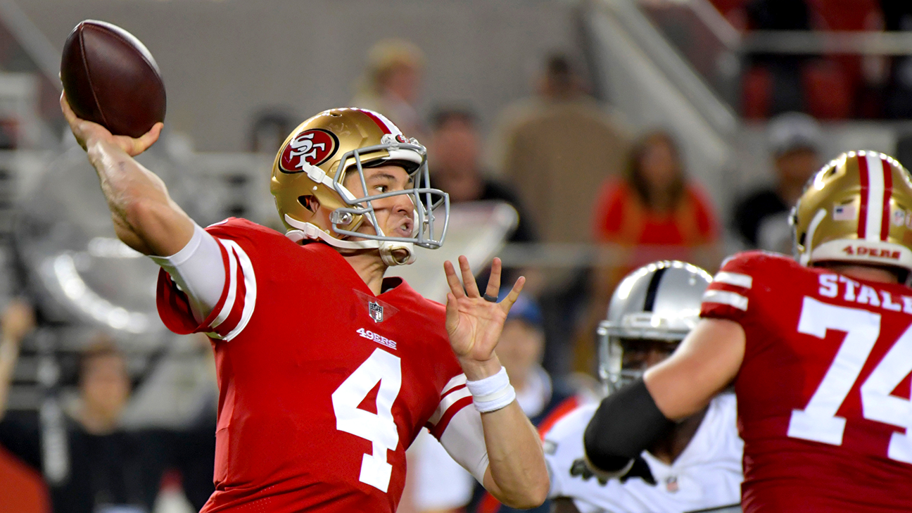 After finding out he was starting just hours before the game, all 49ers QB Nick Mullens did was put together one of the best statistical debuts by a quarterback in league history.