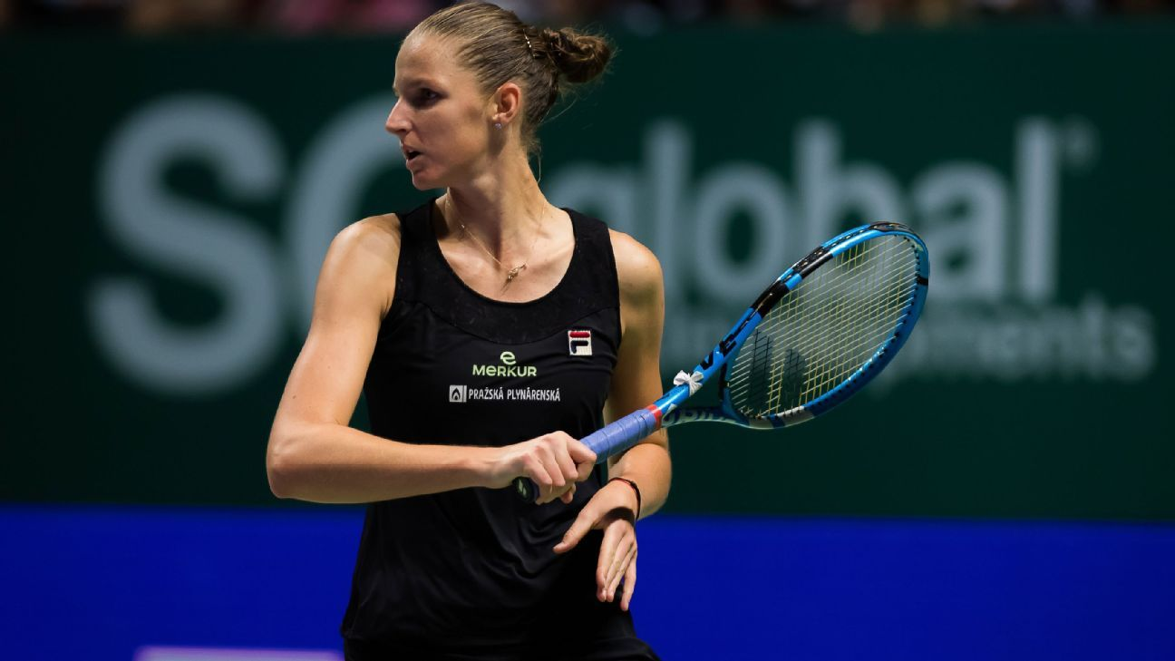 Karolina Pliskova out of Fed Cup final with injuries, replaced by Barbora Krejcikova