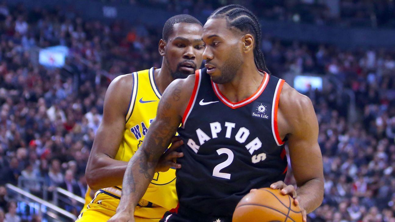 NBA -- Kawhi Leonard steps up his play against Kevin Durant in first showdown with Toronto Raptors