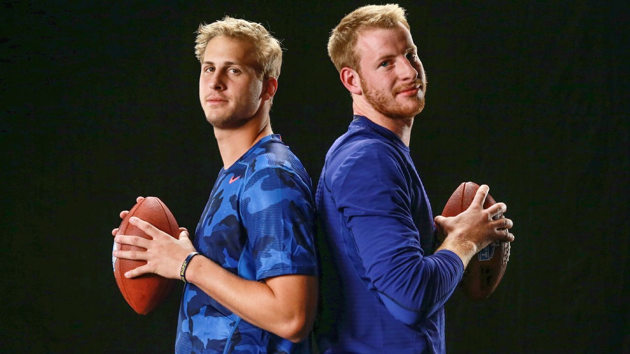 The two third-year QBs' careers are forever linked. The Eagles and Rams meet again Sunday with Goff and Wentz trying to add to their young resumes.