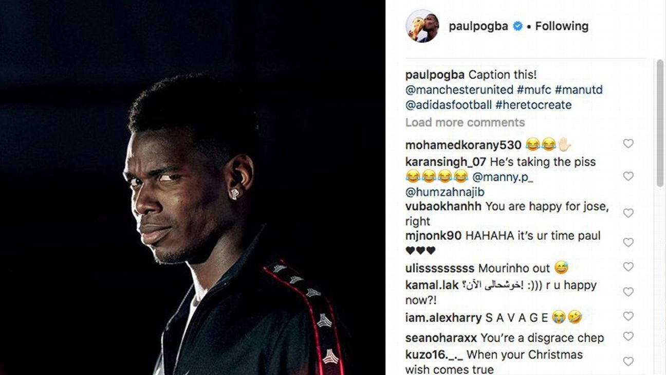 Pogba quickly deletes social media reaction to Mourinho's sacking at Man United