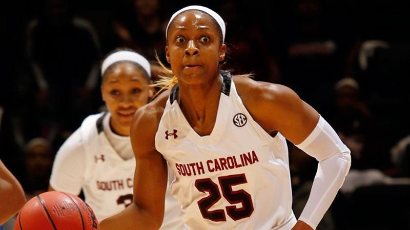 Post-game interview with South Carolina Senior Tiffany Mitchell