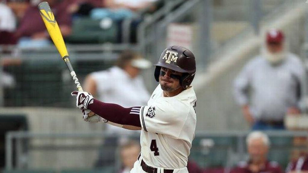 Aggies stay alive in tourney with 'relentless at-bats'