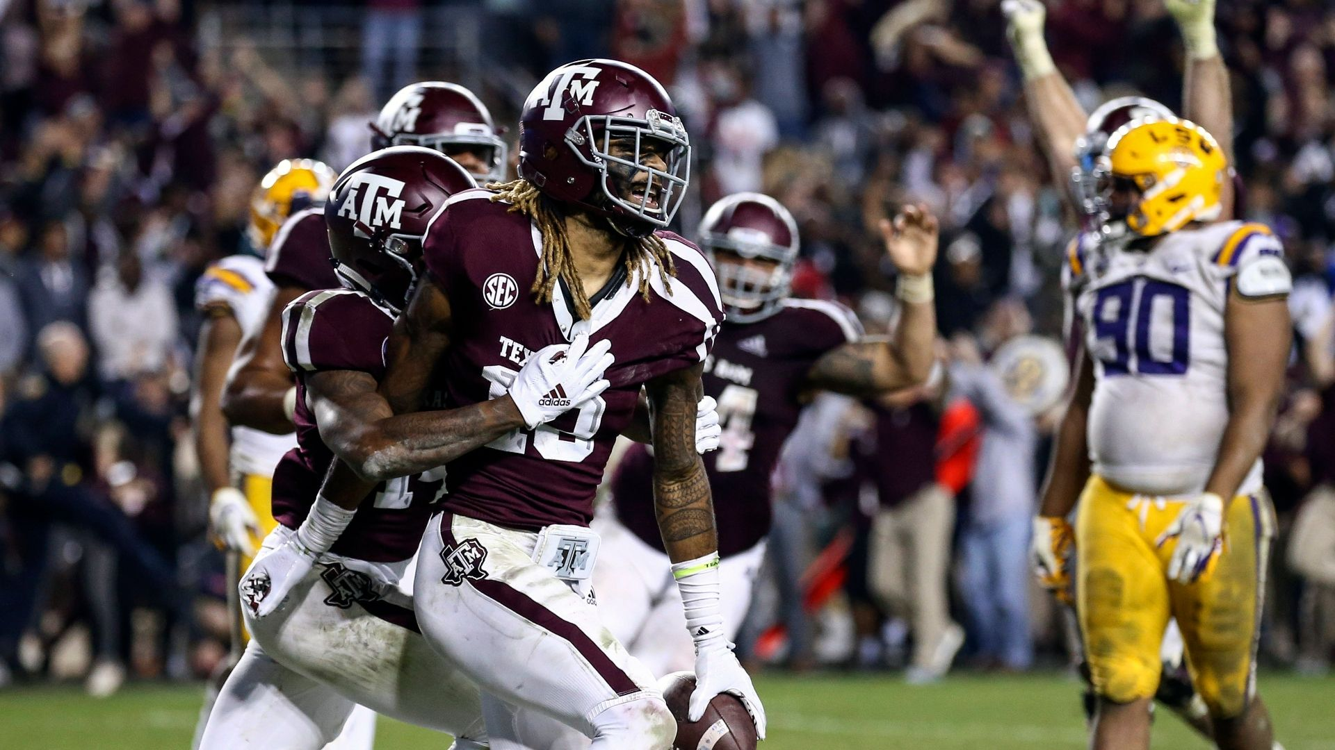 Texas A&M tops LSU in record-tying 7 OTs - ESPN Video