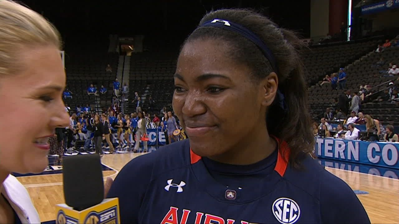 Postgame Interview with Auburn Senior Tra'Cee Tanner