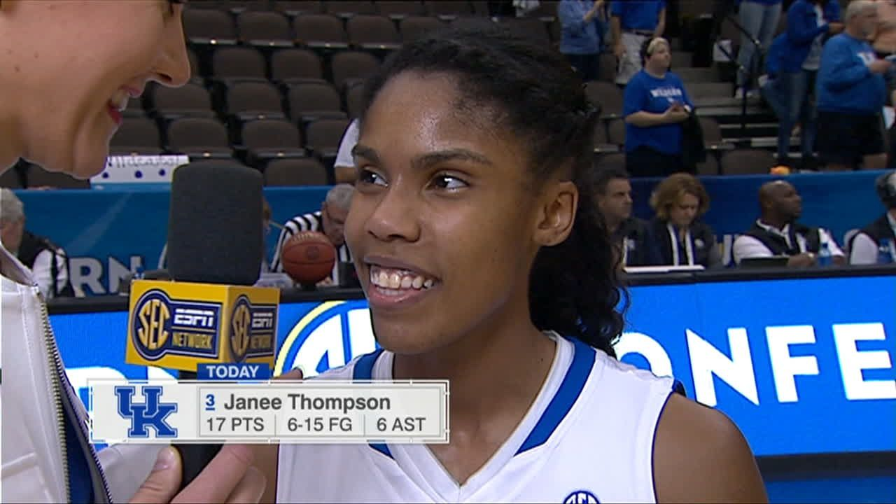 Postgame Interview with Kentucky Senior Janee Thompson