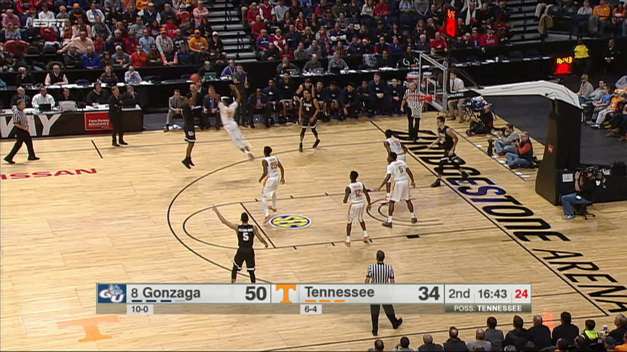 Long Range Passing From Gonzaga Leads To Mathews 3 Pointer