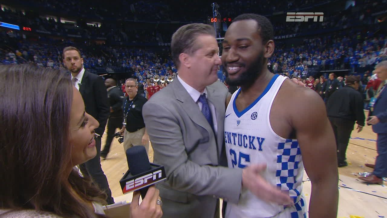 Calipari and Hawkins talk about Kentucky's team effort