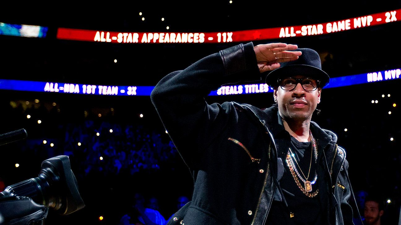 Allen Iverson's No. 3 retired by Philadelphia 76ers