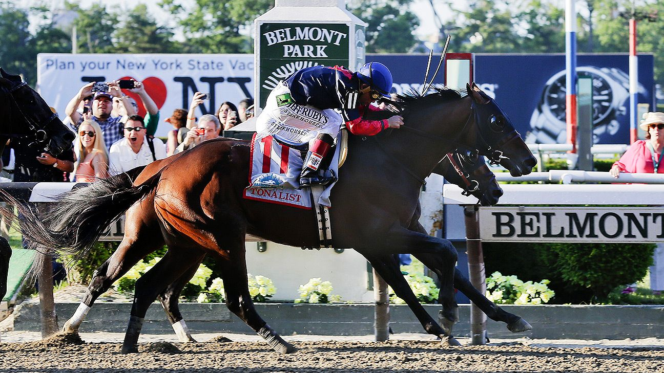 Tonalist Wins 2014 Belmont Stakes Denies California
