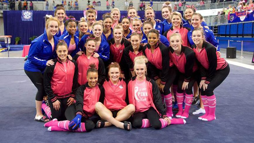 No. 3 UF tops UK in annual Link to Pink meet