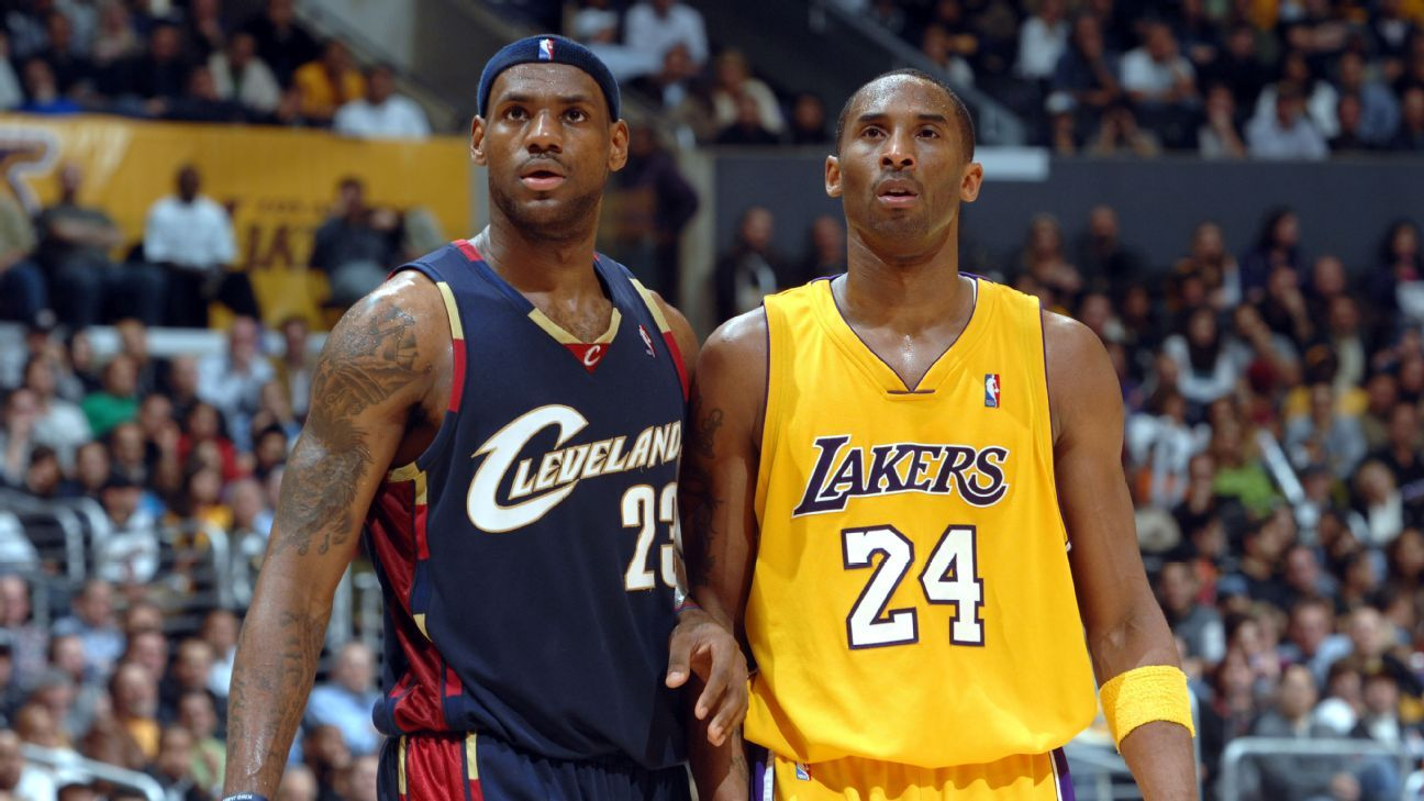 4500def66 Kobe Bryant has heard how some of his most die-hard fans might have an  issue with LeBron James joining the Los Angeles Lakers.