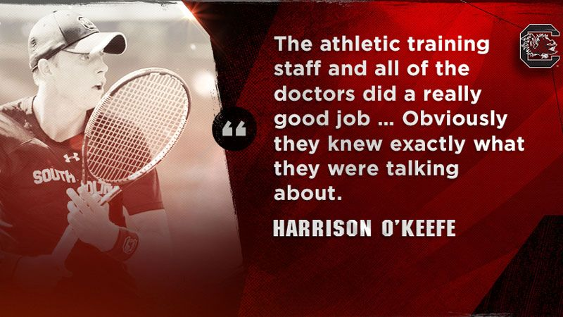 O'Keefe bouncing back for Gamecock Tennis