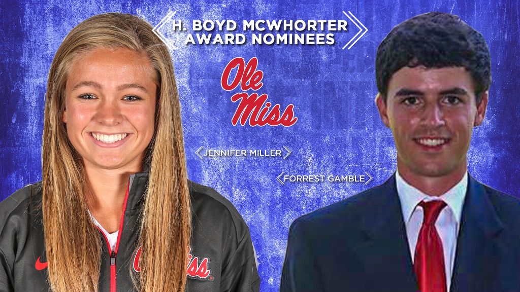 Rebels' Gamble, Miller nominated for McWhorter Award