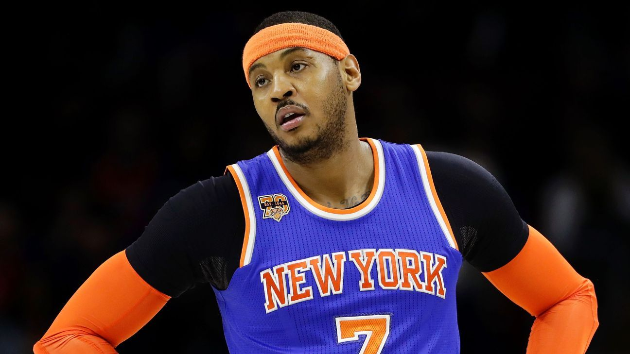 New York Knicks put Carmelo Anthony trade talks on hold, may want him back