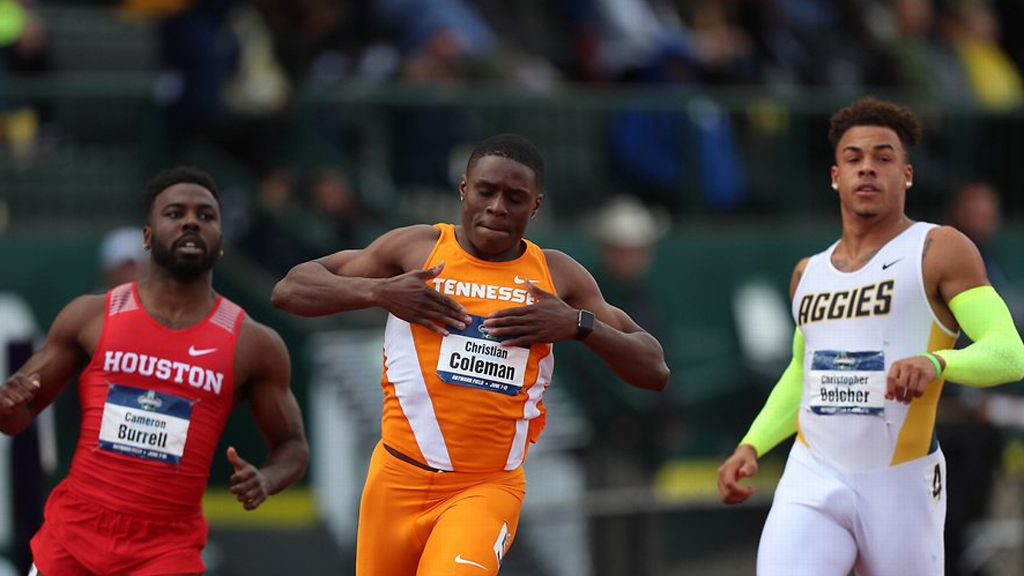 UT's Coleman sprints his way to NCAA history