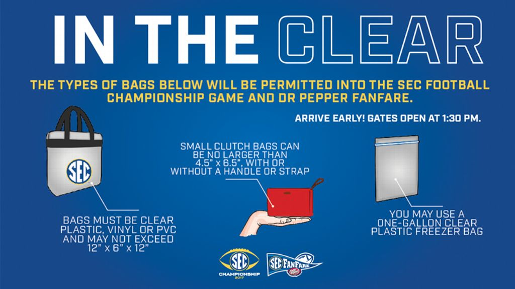 SEC to enforce clear-bag policy for football champ