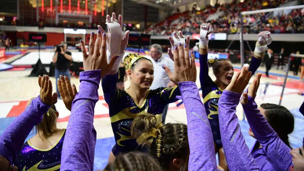 No. 2 LSU posts a 197.575 in win over No. 24 NC State