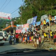 The whole of Aizawl comes to the streets