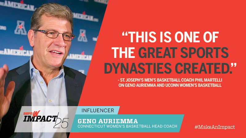Geno Auriemma, 60, Connecticut Women's Basketball Head Coach