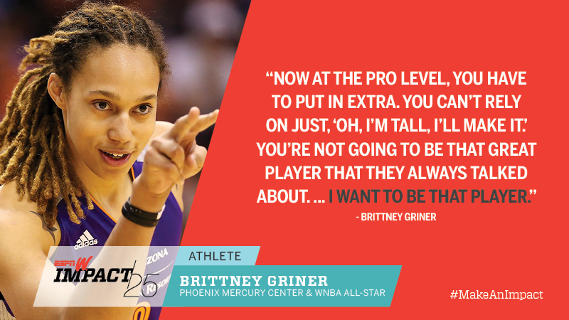 Brittney Griner, 24, Phoenix Mercury Center & WNBA All-Star