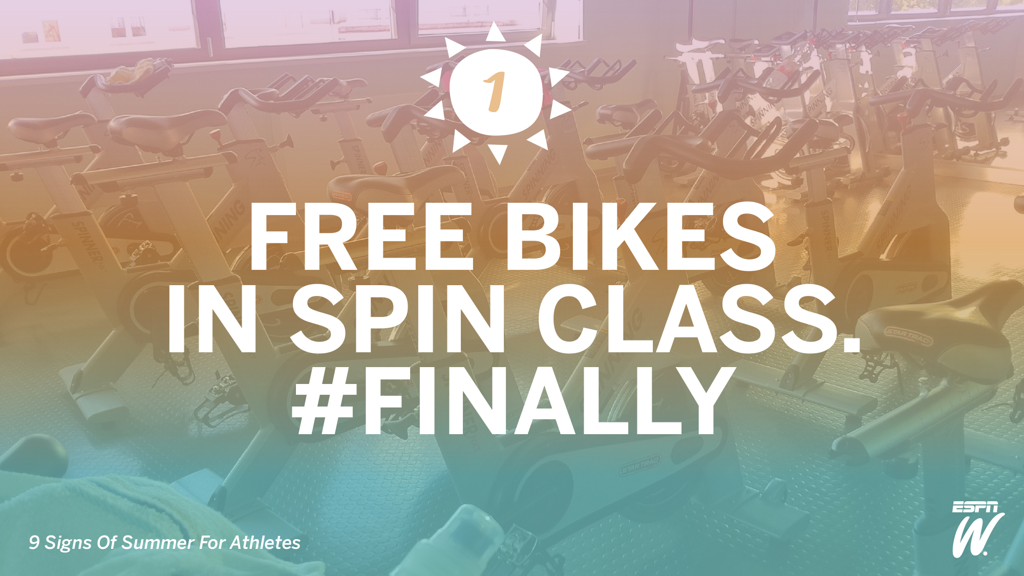 No. 1: Free Bikes In Spin Class