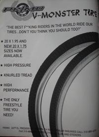 Primo V-Monster ad, 1995.
