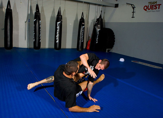 No, Deegs and Hendo are not break dancing. MMA requires fighters to possess great ground techniques as well as standing techniques.