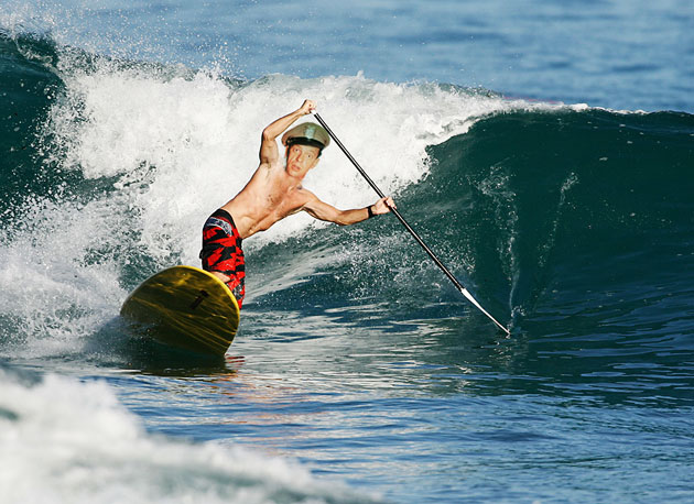 Long before James Bond and Surfer, Dude picked up a paddle there was Barney Fife.