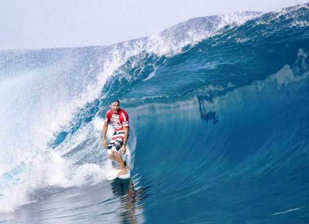 Parko has been training on tropical reefbreak lefts since Bells ended.