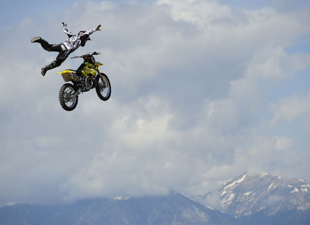 How does Nostradamus spend his down time? Busting big on his dirt bike of course...