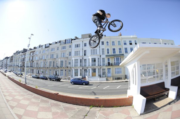 Huge 360 to flat on the promenade in Hastings, U.K.