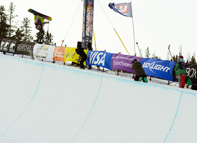 Gretchen Bleiler, who fell on her first run, landed a clean, but less difficult second run and finished second to 2002 Olympic gold medalist Kelly Clark.