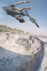 Brian Blyther and a trademark move, a tweaked one-footed x-up.