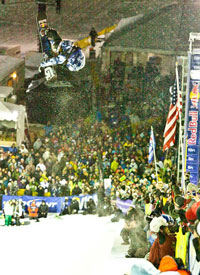 Shaun White let another new trick out at the Park City Grand Prix, but hey, who's counting?