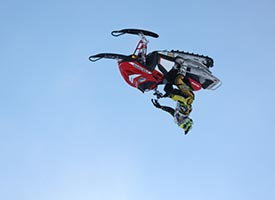 Caleb Moore is a quad rider who literally just started riding snowmobiles.