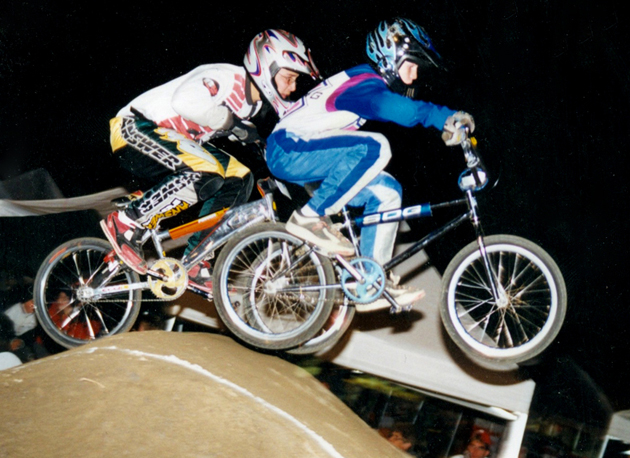 John Daly, early on in his BMX race career.
