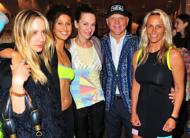 From left to right: Gillian Zinser, Kassia Meador, Cynthia Rowley, Randy Hild and Lisa Anderson