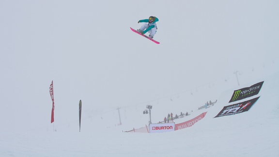 Anderson could probably win slope blindfolded. Low visibility certainly doesn't seem to slow her down.