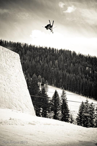 The jump in Sun Valley that landed Parker on the Level 1 DVD cover.