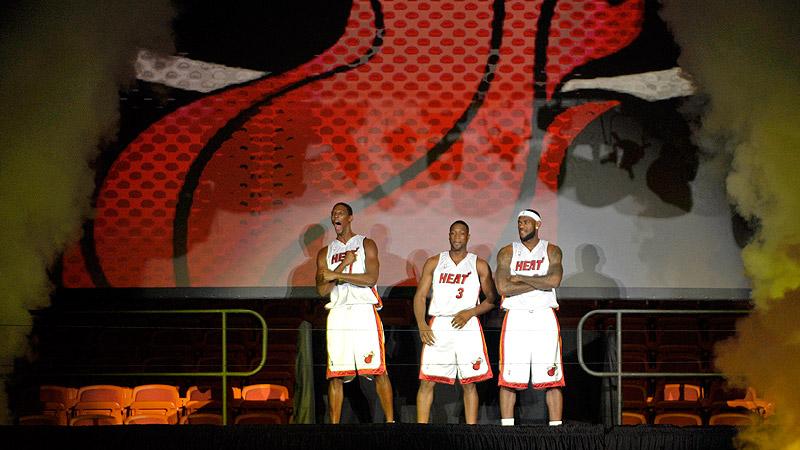 LeBron James, Dwyane Wade and Chris Bosh