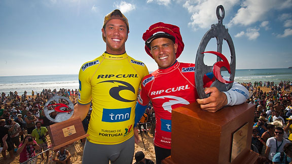 Kelly Slater and Jordy Smith