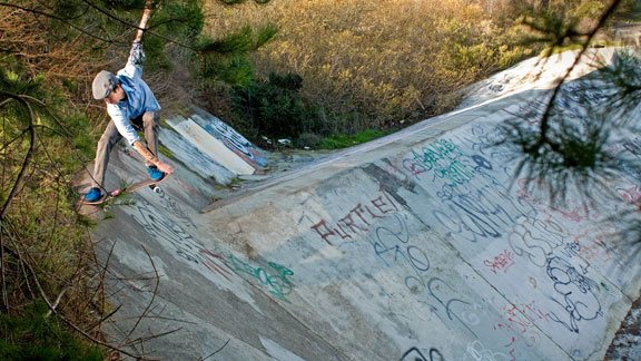 Jason Adams knows ditch spots and crailslides.