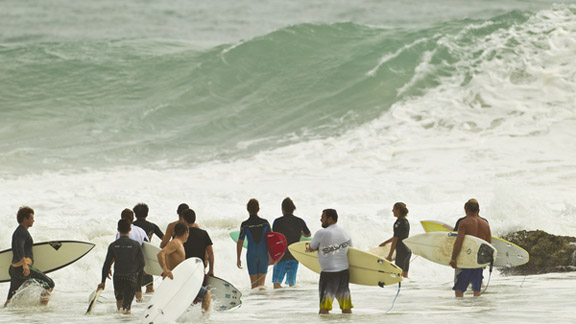 Snagging a few waves before and after the event can sometimes be easier than you think (except maybe at Snappers.)