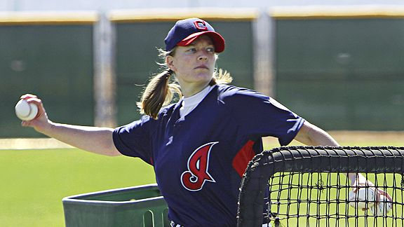 Justine Siegal pitched batting practice during spring training this year. She thinks we'll see a woman in the majors in the next 15 years.