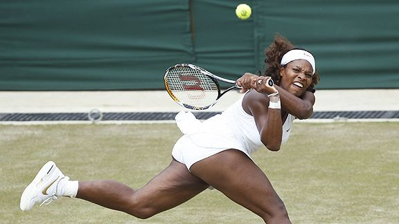 Serena Williams' strong glutes help her explosiveness on the court.