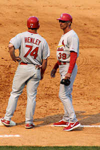 Blair's husband, Tyler Henley, had the opportunity to train with the St. Louis Cardinals in Palm Beach during the team's 2010 spring training.