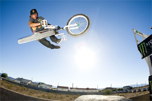 Tailwhip at T.J. Lavin's house. I ride a lot to produce for my sponsors, says Brandon.