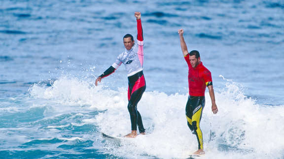 Kelly Slater and Martin Potter